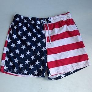 American Flag Men's Swim Shorts Trunks XL